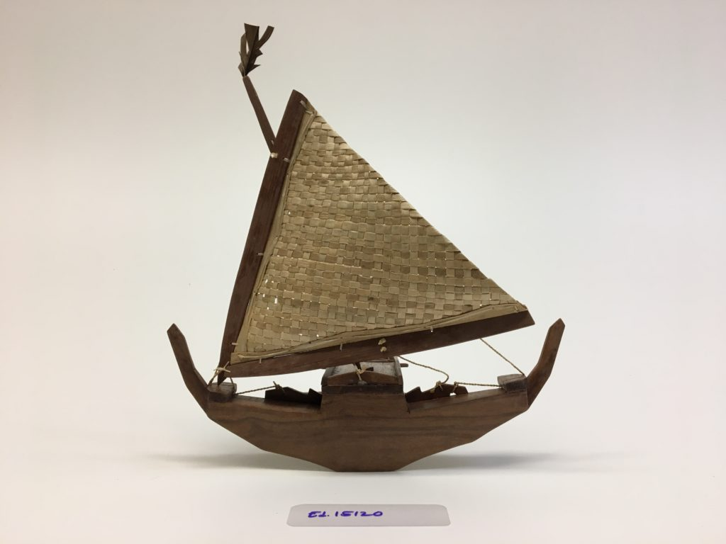 Kainōknōk | retam wa (canoe model ornament)
